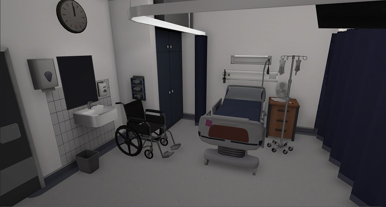 Sneak preview of the hospital environment